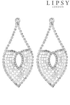 Lipsy Crystal Chainmail Statement Earring