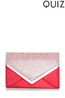 Quiz Diamanté Envelope Bag