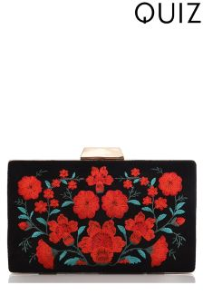 Quiz Rose Embroidered Box Bag