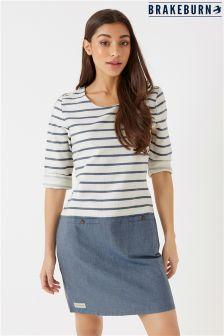 Brakeburn Woven Stripe Shift Dress