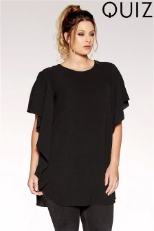 Quiz Curve Waterfall Oversized Top