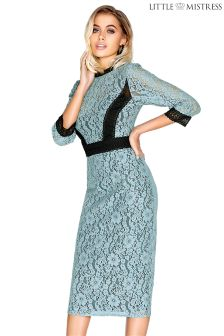 Little Mistress Lace Midi Dress