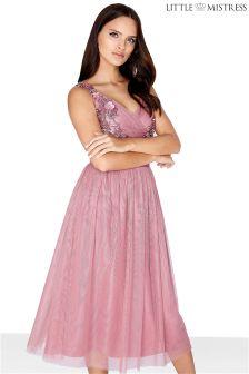 Siateczkowa sukienka balowa Little Mistress
