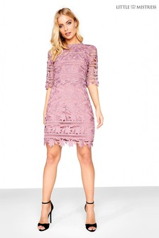 Little Mistress Crochet Shift Dress