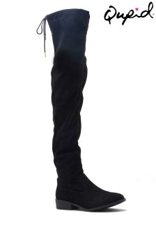 Qupid Flat Over The Knee Boots