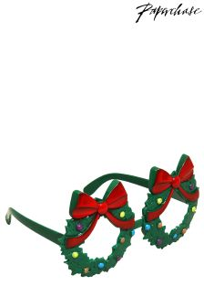 Paperchase Christmas Wreath Novelty Glasses