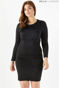 Mela London Curve Front Rouched Bodycon