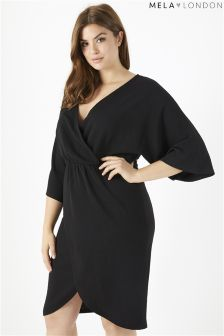 Mela London Curve Wrap Kimono Sleeve Dress