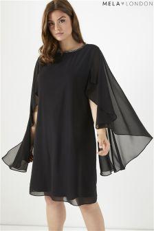 Sukienka Mela London Curve Teardrop z diamencikami i rękawami w stylu kimono