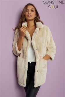 Sunshine Soul Faux Fur Coat