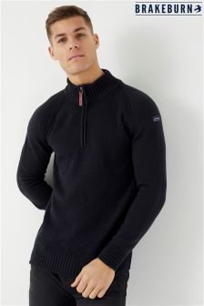 Brakeburn Zip Neck Jumper