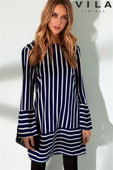 Vila Striped Tunic Dress
