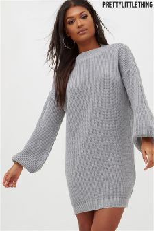 PrettyLittleThing Balloon Sleeve Jumper Dress