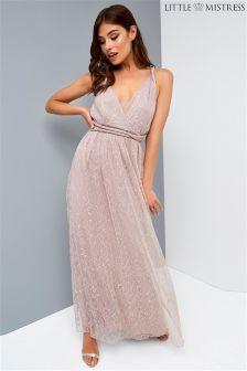 Little Mistress Multiway Bridesmaid Lace Maxi Dress