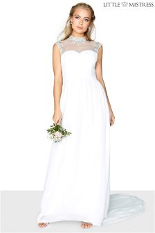 Little Mistress Embellished Bridal Maxi Dress