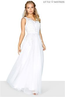 Little Mistress 2 In 1 Lace Maxi Bridal Maxi Dress