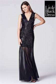 Little Black Dress Geometric Sequin Maxi Dress