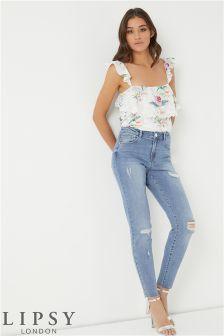 Lipsy Raw Hem Slim Leg Jeans