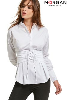 Morgan Lace Up Shirt