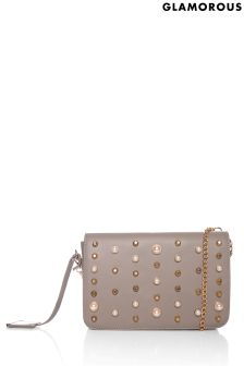 Glamorous Pearl Embellished Cross Body Bag