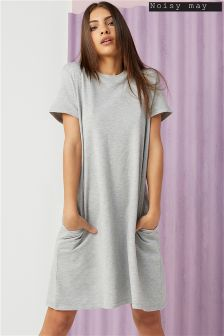 Noisy May Lucky Short Sleeve Pocket Dress
