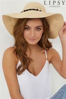 Lipsy Pom Straw Hat