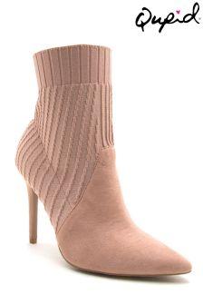 Qupid High Heel Sock Boots