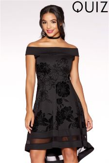 Quiz Bardot Skater Dress