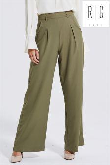 Spodnie z szerokimi nogawkami Rage, w kolorze khaki