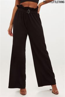 PrettyLittleThing Paperbag Wide Leg Trouser