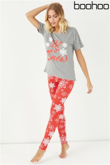 Boohoo Let It Snow PJ Set