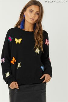 Mela London Butterfly Embroidered Jumper