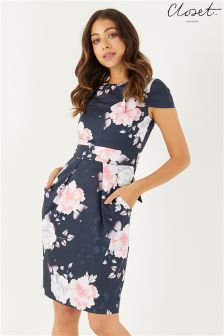 Closet Tulip Tie Back Dress