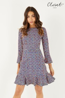 Closet 3/4 Sleeve Pep Hem Dress