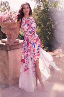 Lipsy Petite VIP Issy Print Halter Maxi Dress