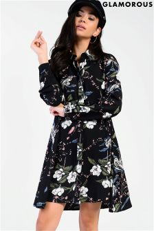 Glamorous Floral Print Shirt Dress