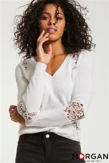 Morgan Lace Knitted Jumper