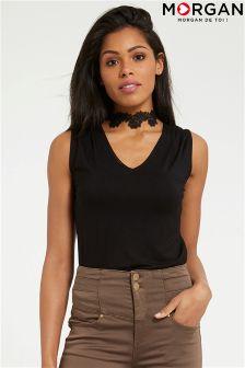 Morgan Lace Collar Top