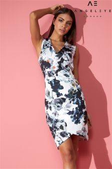 Kopertowa sukienka mini Angeleye, z kwiatowym nadrukiem