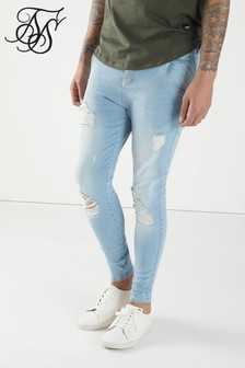 SikSilk Skinny Distressed Stretch Jeans