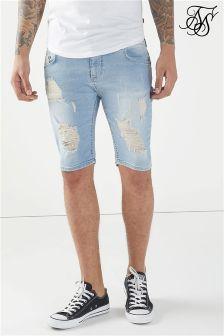 Siksilk Distressed Skinny Shorts
