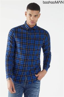 Boohoo Man Long Sleeve Check Shirt