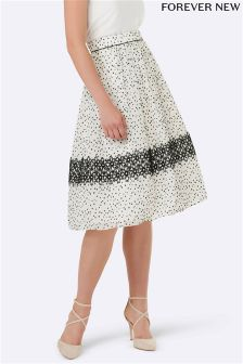 Forever New Lace Midi Prom Skirt