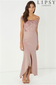 Lipsy Petite Sequin Embellished Maxi Dress