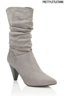 PrettyLittleThing Mid Calf Slouchy Boots