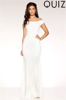 Quiz Sequin Fishtail Maxi Dress