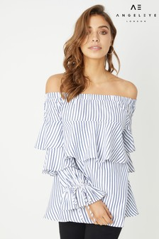 Angeleye Stripe Off The Shoulder Top