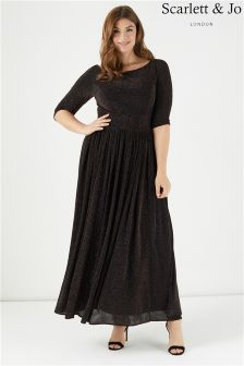 Scarlett & Jo Adele Lurex Maxi Dress