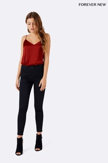 Forever New Petite Poppy Mid Rise Ankle Grazer Jeans