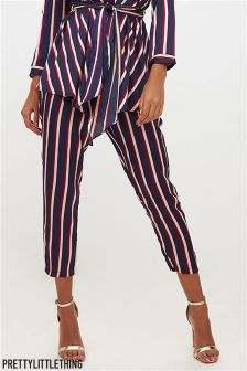 PrettyLittleThing Striped Tapered Trousers